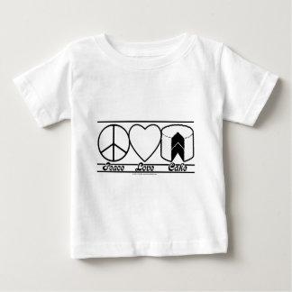 FriedensLiebe und -kuchen Baby T-shirt