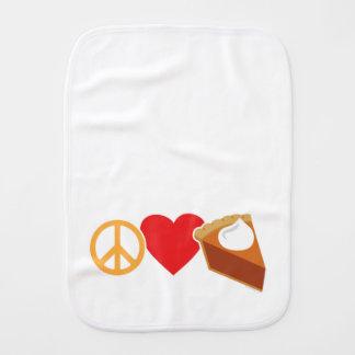 FriedensLiebe und Kürbis-Torte Spucktuch