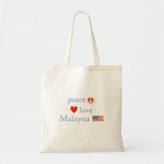FriedensLiebe und -malaysia Tragetasche