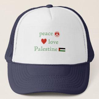 FriedensLiebe und -palästina Truckerkappe