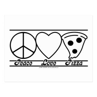 FriedensLiebe und -pizza Postkarte