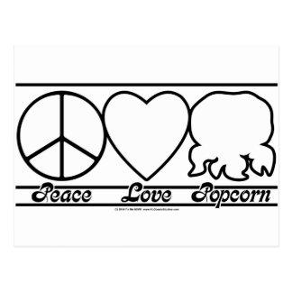 FriedensLiebe und -popcorn Postkarte