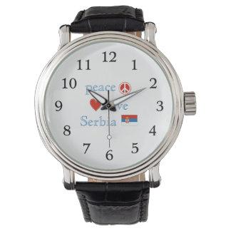 FriedensLiebe und -serbien Armbanduhr