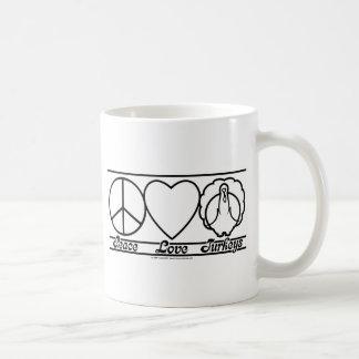 FriedensLiebe und -truthähne Kaffeetasse