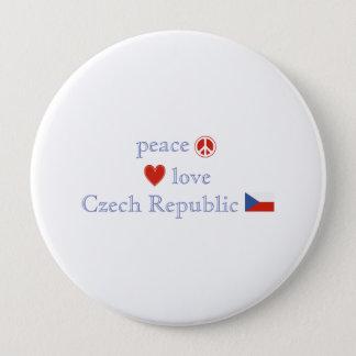 FriedensLiebe und Tschechische Republik Runder Button 10,2 Cm
