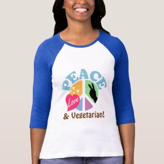 FriedensLiebe und -vegetarier T-Shirt