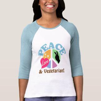 FriedensLiebe und -vegetarier Tshirt