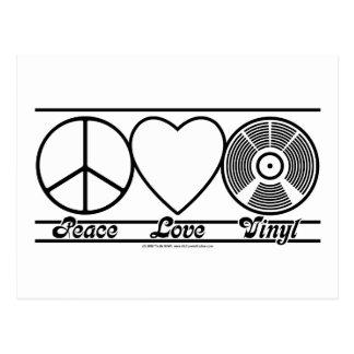 FriedensLiebe und -vinyl Postkarte
