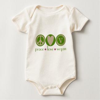FriedensLiebe-veganes Bio Baby Strampler