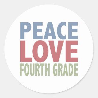FriedensLiebe-vierter Grad Runder Aufkleber