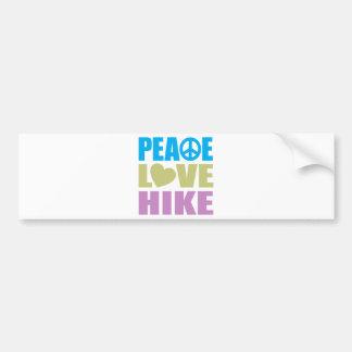 FriedensLiebe-Wanderung Autoaufkleber