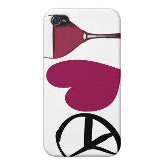 FriedensLiebe-Wein-Kasten iPhone 4 Hülle