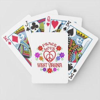 FriedensLiebe West Virginia Bicycle Spielkarten