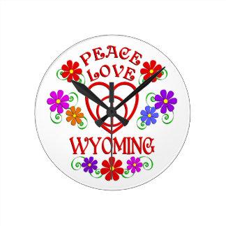 FriedensLiebe Wyoming Runde Wanduhr