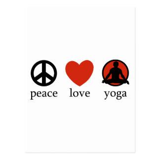 FriedensLiebe-Yoga-Geschenk Postkarte