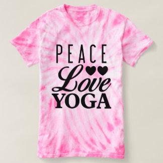 FriedensLiebe-Yoga-Krawatten-T-Stück T-shirt