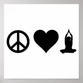 FriedensLiebe-Yoga Poster