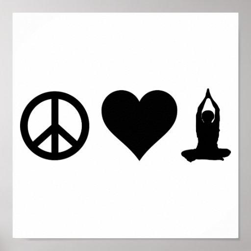 FriedensLiebe-Yoga Plakate