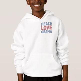 FriedensLiebeobama-T-Shirts und -geschenke Hoodie