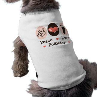 FriedensLiebepodiatry-Fußarzt-HundeT - Shirt