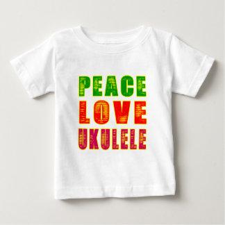 FriedensLiebeUkulele Baby T-shirt