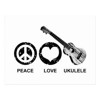 FriedensLiebeUkulele Postkarte
