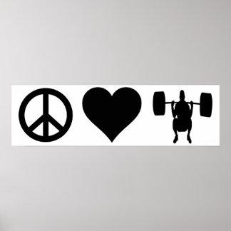 FriedensLiebeWeightlifting Poster