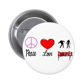 FriedensLiebezombies Runder Button 5,1 Cm