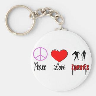 FriedensLiebezombies Standard Runder Schlüsselanhänger