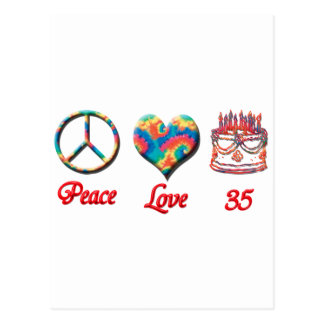 Friedensliveabd 35 Jahre alt Postkarte