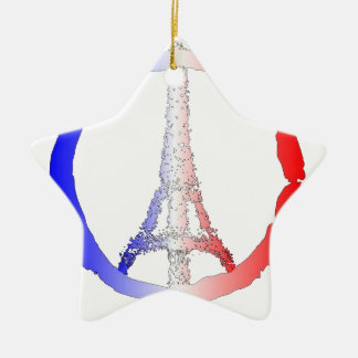 Friedenslogo des Eiffelturms Keramik Ornament