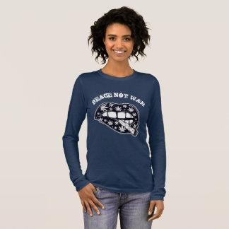 Friedensnicht Kriegs-Rauch Langarm T-Shirt
