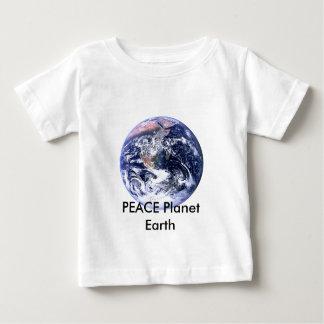 FRIEDENSplaneten-Tag der Erde die MUSEUM Zazzle Baby T-shirt