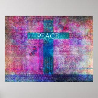 FRIEDENSquere zeitgenössische christliche Kunst Posterdrucke