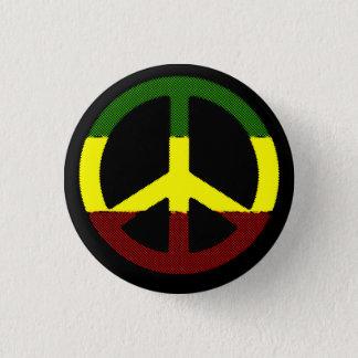 FriedensReggae Runder Button 3,2 Cm