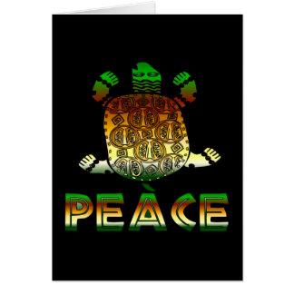 Friedensschildkröte Karte