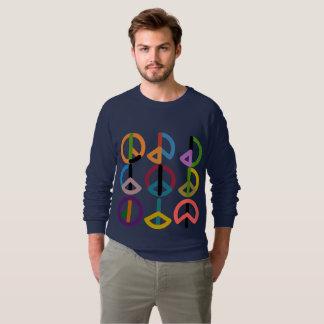 Friedensschlag/amerikanischer Raglan der Männer Sweatshirt