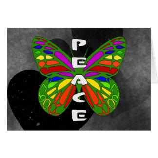 Friedensschmetterling Karte