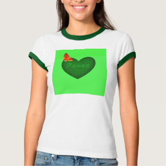 Friedensschmetterlingsdamenwecker-Artt-shirt T-Shirt