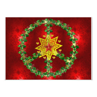 Friedensstern-Weihnachten 12,7 X 17,8 Cm Einladungskarte