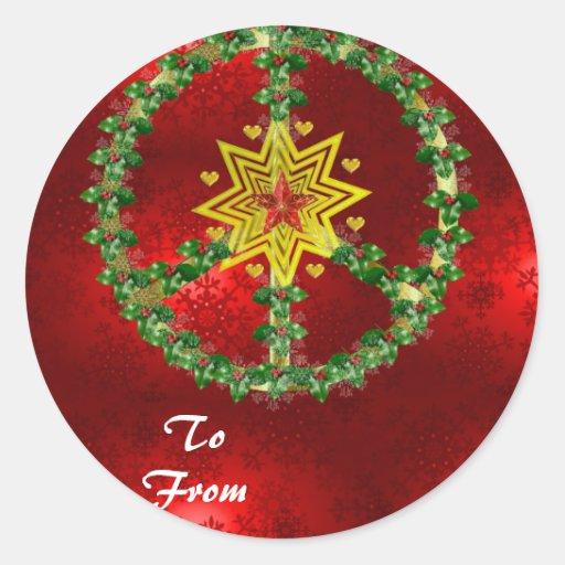 Friedensstern-Weihnachten Aufkleber