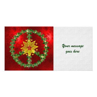 Friedensstern-Weihnachten Fotokartenvorlagen