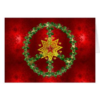 Friedensstern-Weihnachten Grußkarte