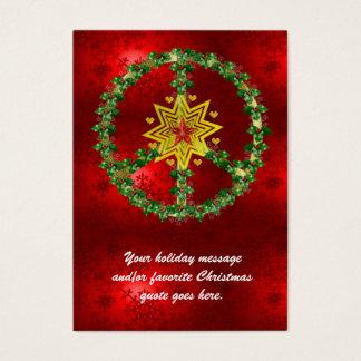 Friedensstern-Weihnachten Jumbo-Visitenkarten