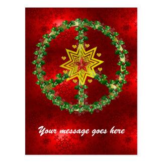 Friedensstern-Weihnachten Postkarten