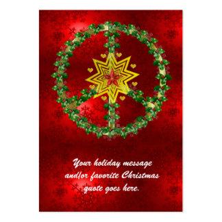 Friedensstern-Weihnachten Visitenkarten Vorlage