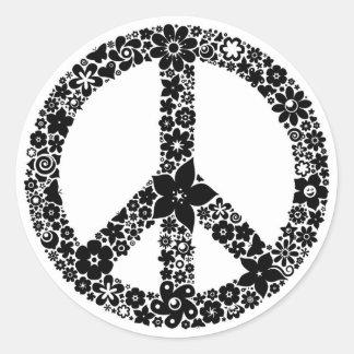 peace symbol aufkleber. Black Bedroom Furniture Sets. Home Design Ideas