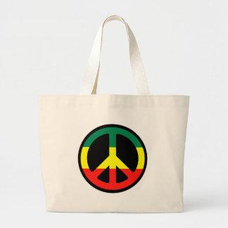 Friedenssymbol für die Welt! Jumbo Stoffbeutel