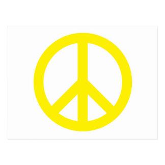 Friedenssymbol - Gelb Postkarte
