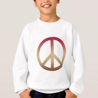 Friedenssymbol-gestreiftes Rot und TAN Sweatshirt